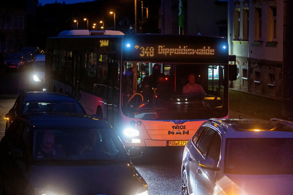 Bis auf Silvester macht ein Betrieb der nächtlichen Linien von Dresden ins Umland während des Lockdowns für den VVO keinen Sinn mehr.