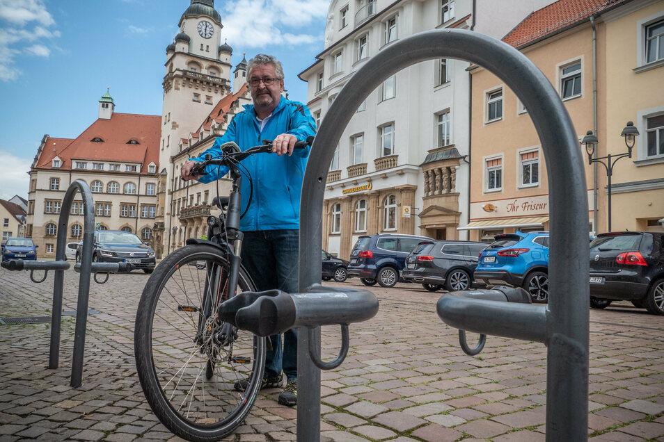 Gibt es in Döbeln ausreichend Abstellmöglichkeiten für Räder? Das ist nur eine Frage, die die Teilnehmer der Online-Umfrage des ADFC beantworten sollen.