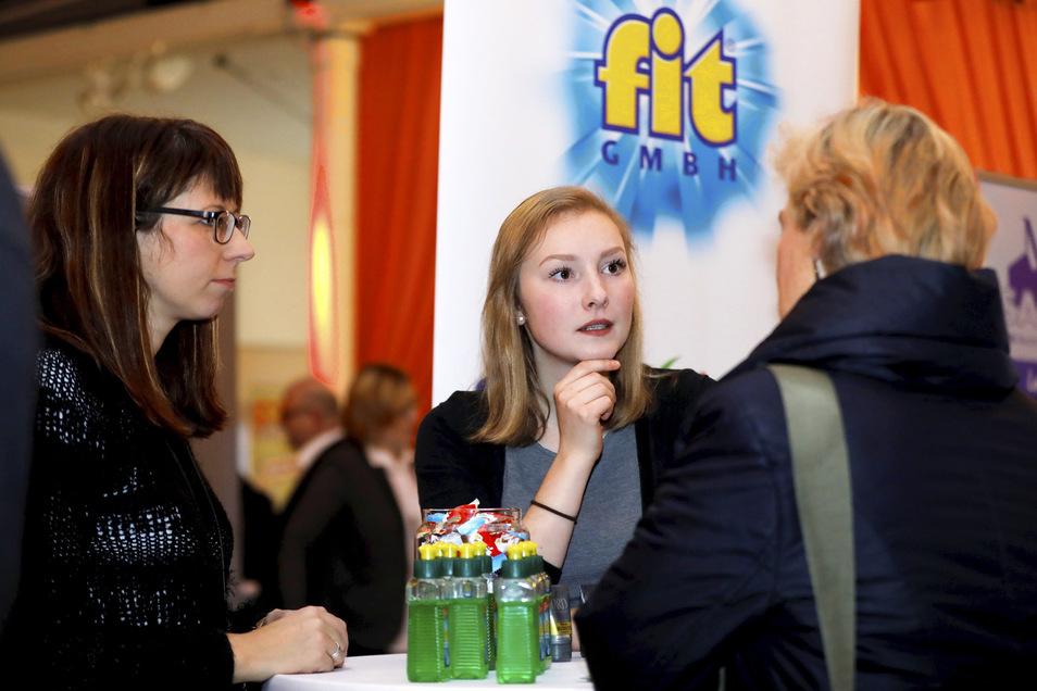 """Auch das Hirschfelder Unternehmen """"fit"""" präsentierte sich beim Rückkehrertag in Neugersdorf."""